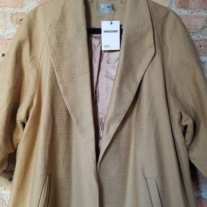 NWT - Asos Curve Open Tweed Coat